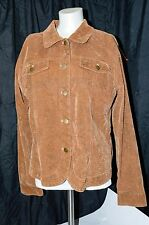 Bamboo Traders Brown Faux Reptile Print Large Jacket  Lined Light Weight EUC