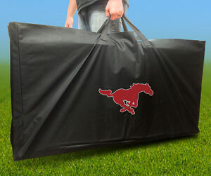 SOUTHERN METHODIST MUSTANGS SMU CORNHOLE Board CARRYING CASE Storage Carry Bag
