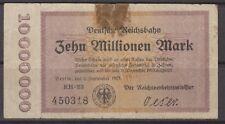 Berlín Reichsbahn 10 millones de dinero de Emergencia Notgeld Alemania 1923