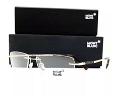 New Mont Blanc Eyeglasses 670 028 Gold 56•16•145 With Case