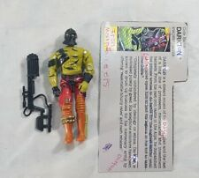 Vintage 1989 GI Joe Cobra Darklon Evader Driver with file card
