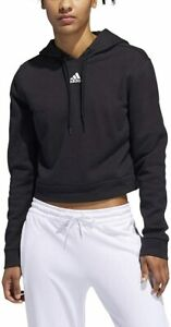 adidas Women's 3-Stripes Cropped Fleece Pullover Hoodie, Color Options