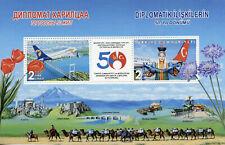 Turkey 2019 MNH Diplomatic Relations Mongolia 2v M/S Bridges Aviation Stamps