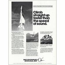 1980 McDonnell Douglas: Climb Straight Up Speed of Sound Vintage Print Ad