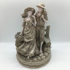More details for large heavy grey couple countryside figures figurine ornament farm country style