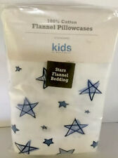 Eddie Bauer Kids STANDARD Flannel Pillow Case Set (2) Stars Cotton Flannel