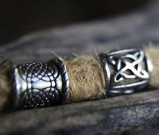 2 Stainless Steel 8.5mm Hole (5/16 Inch) Dreadlock Beads Viking beard Dread bead