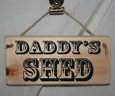 Dad Daddy Grandad Name Shed Door Sign Plaque Gift Home Office Hanging Shop Den O