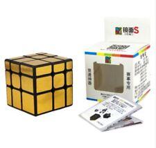 MoYu MoFang JiaoShi 3x3x3 Mirror S Speed Rubik's Cube Gold