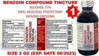 Humco Benzoin Compound Tincture 2 oz First Aid WOUND DRESSING Exp Date 06/2023