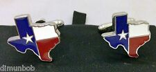 Texas Shaped Flag  Cufflink Set