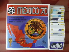 PANINI Komplettsatz WM 1970 WORLD CUP 70 Complete set all 270 stickers + album