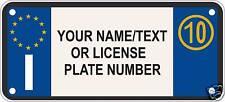 1x STICKER ITALY LICENSE PLATES For BUMPER GARAGE ITALIA CUSTOM PERSONALIZED