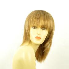 Perruque femme mi-longue blond foncé méché blond clair FANIE F27613