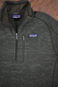 Patagonia Better Sweater 1/4 Zip Pullover Brown Print Men's Medium M
