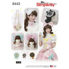 Simplicity Pattern 8443 Misses' Hair Accessories, Purses and Medallions