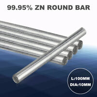 """Zn 99.95% Purity Zinc Rod Solid Round Bar 0.4""""x 4"""" Anode Electroplating 10*100mm"""