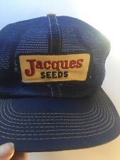 Vintage JACQUES SEEDS K-Brand USA Snapback Mesh Farm Cap Farmers Trucker Hat