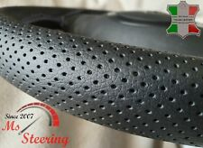 FOR VOLVO VNL 780 TRUCK PERFORATED LEATHER STEERING WHEEL COVER GREY DOUBLE ST