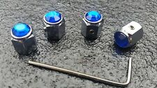 Auto Azul Guarda Polvo Llantas Tapas De Válvula de bloqueo de retención para pasajeros) Mini Fiat Vw Audi Bmw Merc Ford