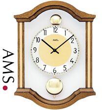 AMS 7447/4 cuarzo de Reloj pared péndulo doppelpendel Madera Maciza Roble