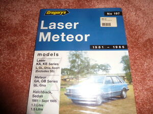 FORD  LASER METEOR KA KB GREGORY'S OWNER'S SERVICE AND REPAIR  MANUEL No 197