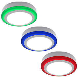 BLUE RED GREEN 18W LED Surface Mount Round Ceiling Panel Light Two Colour Panel