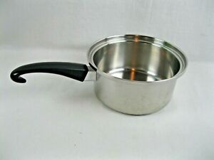 Seal-O-Matic 2 1/2 Qt Sauce Pan Thermium Stainless Steel Made in USA Vintage