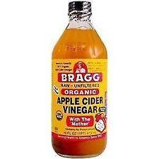 Organic Raw Apple Cider Vinegar Unfiltered Bragg 16 oz Liquid