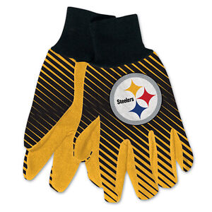 NEW Football Pittsburgh Steelers Protective Utility Gripped Gloves Licensed