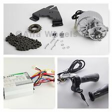450W 24V electric motor conversion kit f bicycle rear wheel w 5 accessories