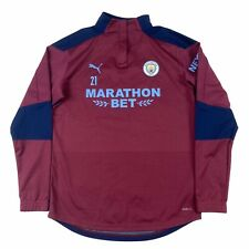 More details for manchester city puma player issue worn raincell jumper jacket small torres 21