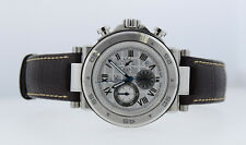MENS GUESS GC WATCH GC-1 SPORT CHRONOGRAPH 44MM BROWN LEATHER BAND SAPPHIRE