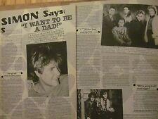 Simon Le Bon, Duran Duran, Two Page Vintage Clipping