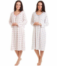 Polyester Long Sleeve Nightdresses & Shirts for Women