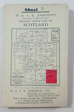 c1900 old antique Johnston's Three miles to inch Map of Scotland 3 Roxburgh