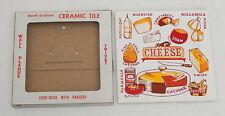 Ceramo Studio Made in USA Ceramic Tile Wall Plaque Cheese Trivet