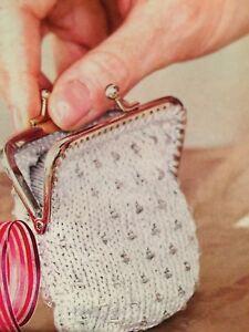 Glamour Purse Knitting Pattern