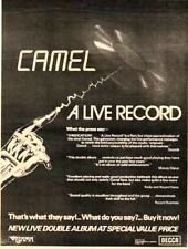 CAMEL A Live Record 1978 UK Poster size Press ADVERT 16x12""