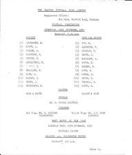 Reading Reserves v West Ham United Reserves 1972/73
