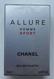CHANEL ALLURE HOMME SPORT EAU DE TOILETTE 10 ML 0.34 FL OZ MINIATURE VIP GIFT