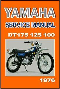 YAMAHA Workshop Manual DT175 DT125 DT100 1976 DT175C DT125C DT100C Repair