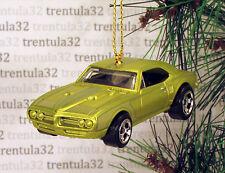 1967 PONTIAC FIREBIRD 400 '67 GREEN/YELLOW CHRISTMAS TREE ORNAMENT XMAS