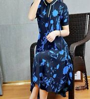 AUTH Ted Baker OHLAH Bluebell midi dress Dark Blue 0 to 5