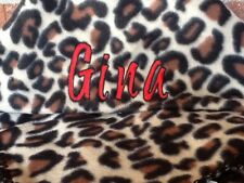 LEOPARD BLANKET GIFT CAMPING BIRTHDAY PERSONALIZED EMBROIDERED CHEETAH