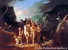 Daniel Boone Escorting Settlers Through Cumberland Gap - Historic Art Print