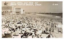 RPPC,Santa Monica,CA.Beach Scene,L.A.County,c,1950s