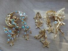 Kirks Folly Pipe Dream Bubble Fairy Set And Fairy Godmother Set Brooch/Earrings