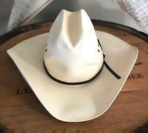 Stetson Ivory Straw Weave Cowboy Ranch Western Hat Men's 6 7/8