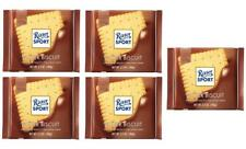 Ritter Sport BUTTER BISCUIT chocolate square bars 100g (Pack of 5)